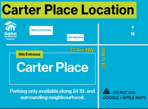 Carter Place Map